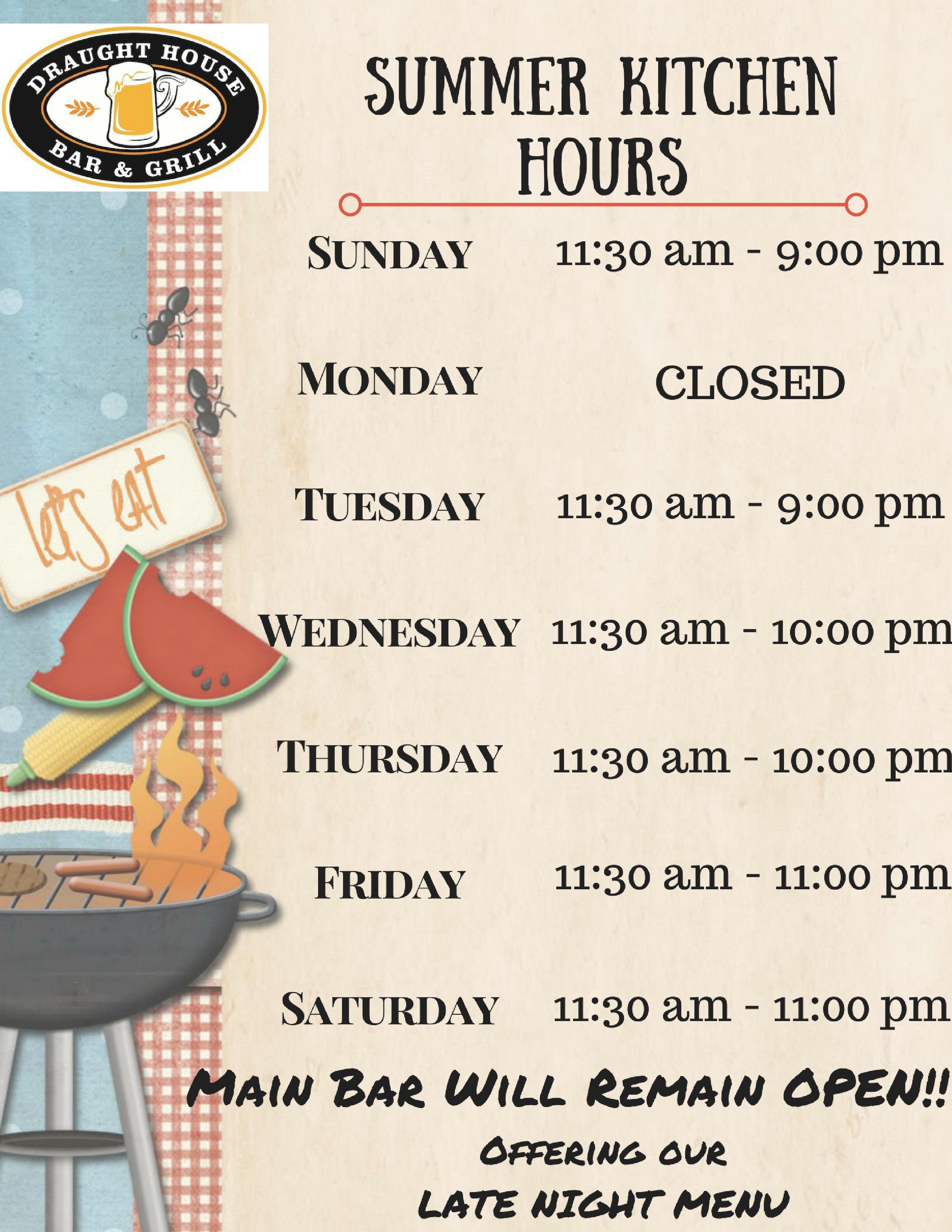 Kitchen hours